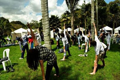 Arranca el 5to eco yoga festival 2012 en el jard n for Actividades jardin botanico bogota