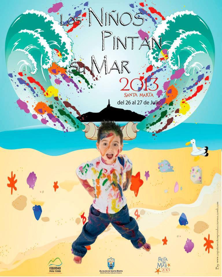 En Santa Marta] Los niños pintan su mar #FiestaDelMar2013