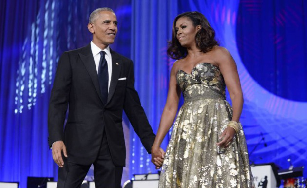 Barack y Michelle Obama en Washington, en 2017.